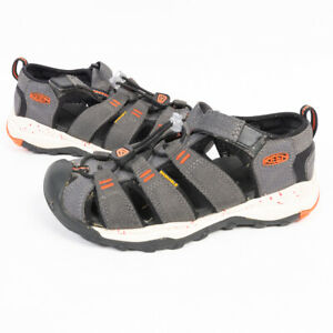 Keen Boys Waterproof Sandals Gray/Orange/White Size 13