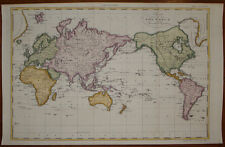 Stampa antica old print Andrew Bell mappaamondo world map weltkarte 1780 ca.