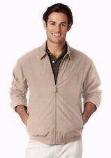 CHAPS Ralph Lauren Size XL Windbreaker Khaki Jacket~Crawford~Microfiber~Lined