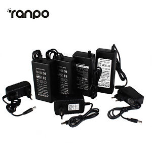 AC100-240V To 5V 12V 24V 1/2/3/5/6/8A Power Supply Adapter Transformer LED Strip