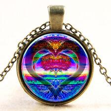 TREE OF LIFE HEART PENDANT NECKLACE Jewellery Gift Idea Spiritual Yoga Symbol