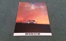 1982 RENAULT 30 TX MANUAL AUTOMATIC + 30 TURBO DIESEL UK BROCHURE