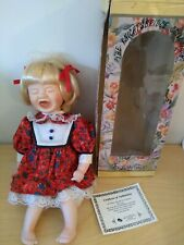 """14"""" Tall Seated Knightsbridge Collection Christmas Porcelain Doll BELINDA Crying"""