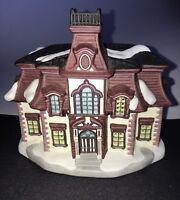 Normans Rockwell's Holiday Porcelain Citizen's Hall Stockbridge 1997 No light