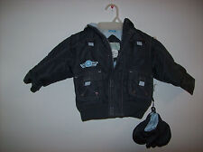 LE PETIT ROTHSCHILD CHILDS PILOT JACKET SIZE 18 MONTHS WITH MITTENS NEW