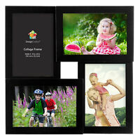 Parker Four 4x6 Openings Wood Collage Picture Frame by DesignOvation