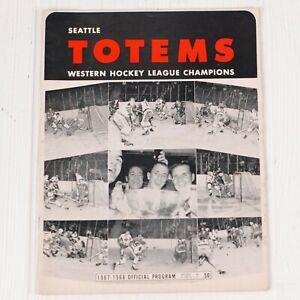 Seattle Totems 1967 Western Hockey League Game Program vs Portland Buckaroos