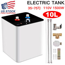 110V 10L Kitchen Bathroom Home Electric Tankless Hot Water Heater 35℃-75℃.