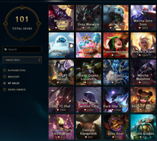 League of Legends Account  | LOL ACC NA | Silver 3 | All Champions 101 Skins