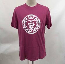 OBEY Men's Pigment T-shirt Ninety-one Dusty Magenta Size L Shepard Fairey