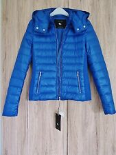 ZARA BLUE SHORT QUILTED FEATHER DOWN ULTRA LIGHTWEIGHT ANORAK  JACKET SIZE S