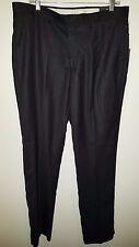 Alberto Giani NWT Men's Charcoal Flat Front Striped Dress Pants Size 36/34