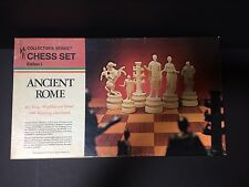 "Vintage Board Game Chess Set Ancient Rome Weighted 4 7/8"" Julius Caesar"