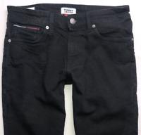 Mens TOMMY HILFIGER Scanton Jeans W30 L30 Black Slim Fit