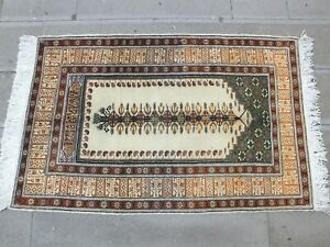 Gold Rug 3x4.7,Turkish Rug,Small Carpet,Antique Rug,Vintage Rug,Old Rug,Boho Rug