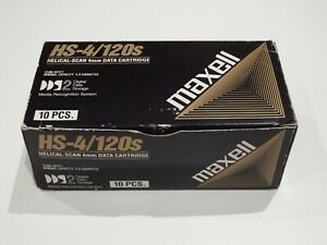 Box of 10 x Maxell DDS2/DDS-2 DAT Data Tapes/Cartridges 4mm 4/8GB HS-4/120S NEW
