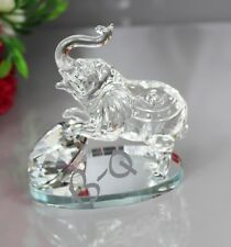 Crystal Cut Glass Elephant Animal Ornament For Valentin's Day Easter Gift Box