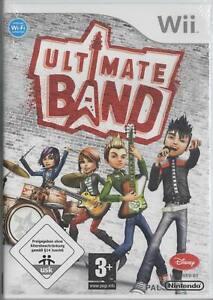 Ultimate Band Nintendo Wii NEU Ultimate Leadsänger Schlagzeug Gitarre Bass