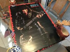 1985 Vintage 25X38 Kiss Gene Simmons Animalize Tour Poster!