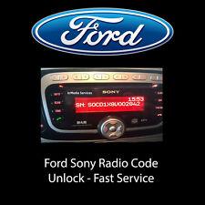 Ford Sony MP3 Radio Code Car V M Codes Serial Key Codes Serial PIN Unlock