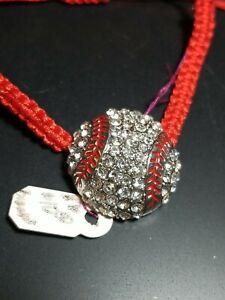 Baseball Sports Lover Bracelet Rhinestone Adjustable cord band Fashion Jewelry