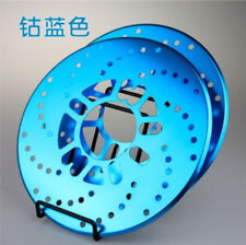 Blue Vehicle Rim Aluminum  Brake Disc Pad Racing Cover Drum 2PC