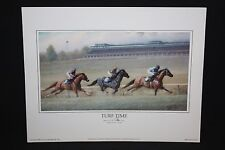 "TURF TIME Print James L. Crow 9"" x 7"" Keeneland Lexington KY"