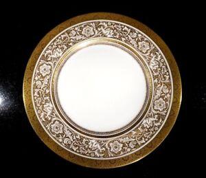 Stunning Minton Porcelain Ball Ivory Dinner Plate