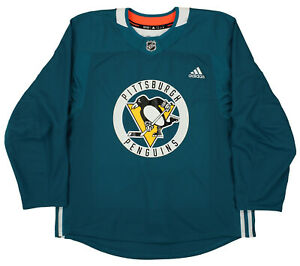Adidas NHL Hockey Men's Pittsburgh Penguins Pro Authentic Practice Jersey