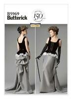 Butterick B5969  Corset 7Skirt with Bustle Re-enactment Costume Pattern 14 - 22