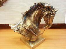 Brass HALF HORSE Sculpture Statue Figurine Vintage Collect Home Decor Animal Art