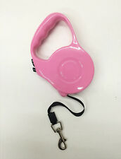 16.5 FT RETRACTABLE DOG LEASH Pink AUTOMATIC ADJUST LENGTH (for small dog)