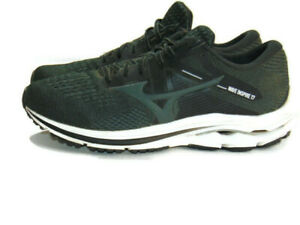 Mizuno Sneakers Black Gray White Mesh Wave Inspire 17 Road Running Mens 12