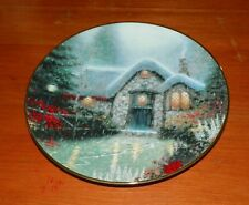 Thomas Kinkade Collector Plate Garden Cottages of England Woodsman's Cottage