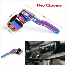 Aluminium Neo Chrome Car Steering Wheel Turn Signal Lever Position Up Rod Kit X1