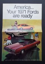 1971 Ford Car Sales Brochure Mustang Galaxie Torino Thunderbird Pinto Maverick