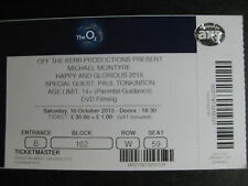 MICHAEL MCINTYRE  O2 LONDON  10/10/2015  TICKET