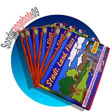 2x 50 Blatt Stadt Land Fluss Spiel REISESPIELl für Kinder Ratespiel  Rätsel