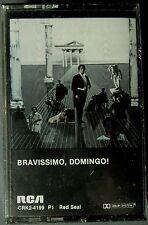 Bravissimo, Domingo!: Verdi, Massenet, Bellini... (2 Cassette, 1982, RCA) NEW