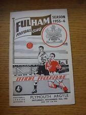 19/11/1955 V Plymouth Argyle Fulham (Grapas eliminado, ligeras marcas de óxido donde S