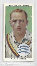 1938 John Player & Sons (22) R. M. V. ROBINS Cambridge, Middlesex & England