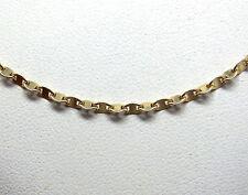 LADIES 14K YELLOW GOLD TWISTED CHAIN DIAMOND CUT 4.1GR