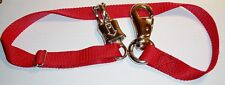 Horse Trailer Tie with Panic Snap & Bull Snap New Red