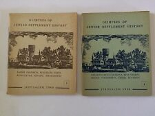 "RARE BOOKS : ""GLIMPSES of JEWISH SETTLEMENT HISTORY"" Vol 1 & 2"