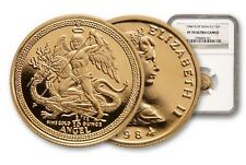 1984 Isle of Man 1/10oz Gold Angel - Rare!! NGC PF70 Ultra Cameo ~ NGC Pop 121