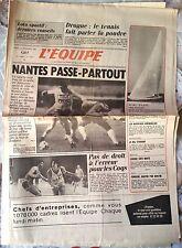 L'Equipe Journal 21/11/1985; Drogue et Tennis/ Nantes Passe-Partout/ Marc Pajot