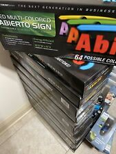 LED MULTI- COLORED Abierto Sign 64 (GREEN LIGHT)Prossible Color Combinations New