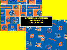 BOISE STATE UNIVERSITY FLEECE FABRIC-BOISE STATE BRONCOS FLEECE-ALL PATTERNS