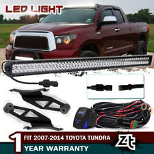"For 2007-2014 Toyota Tundra/Sequoia 50"" LED Light Bar+Upper Roof Mount Brackets"