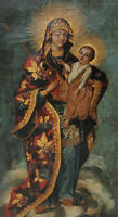 """perfect 24x48 oil painting handpainted on canvas""""Mary, mother of Jesus""""@N5756"""